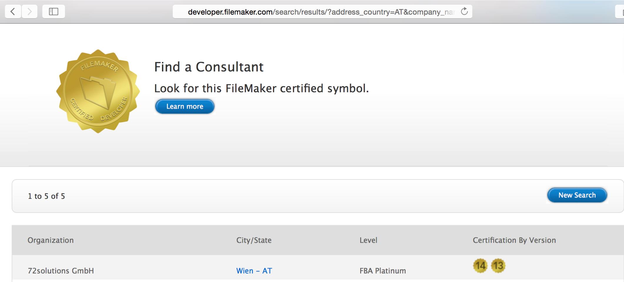 FileMaker 14 Zertifizierung | 72solutions